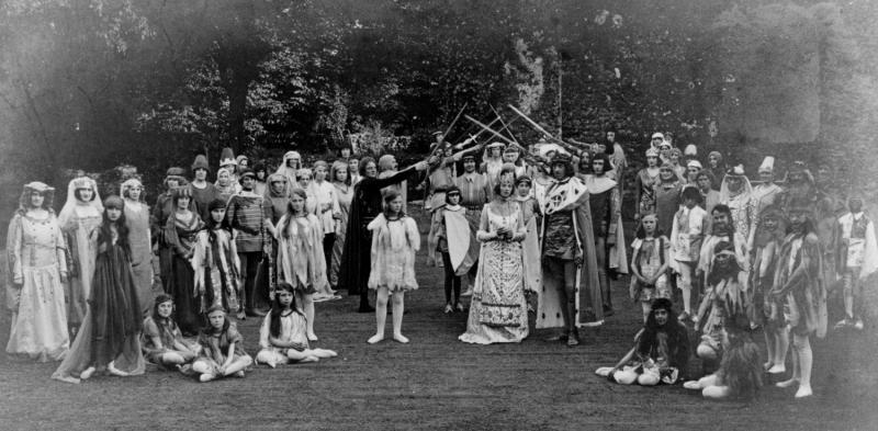 The marriage of John of Gaunt and Blanche of Lancaster, scene from the Reading Pageant, 1920