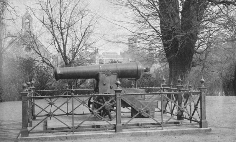 Russian gun on Forbury Hill