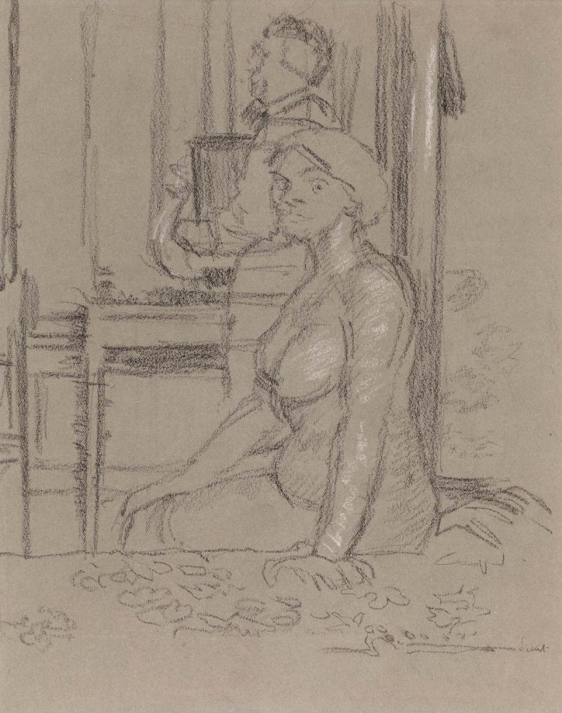 A drawing by Sickert.