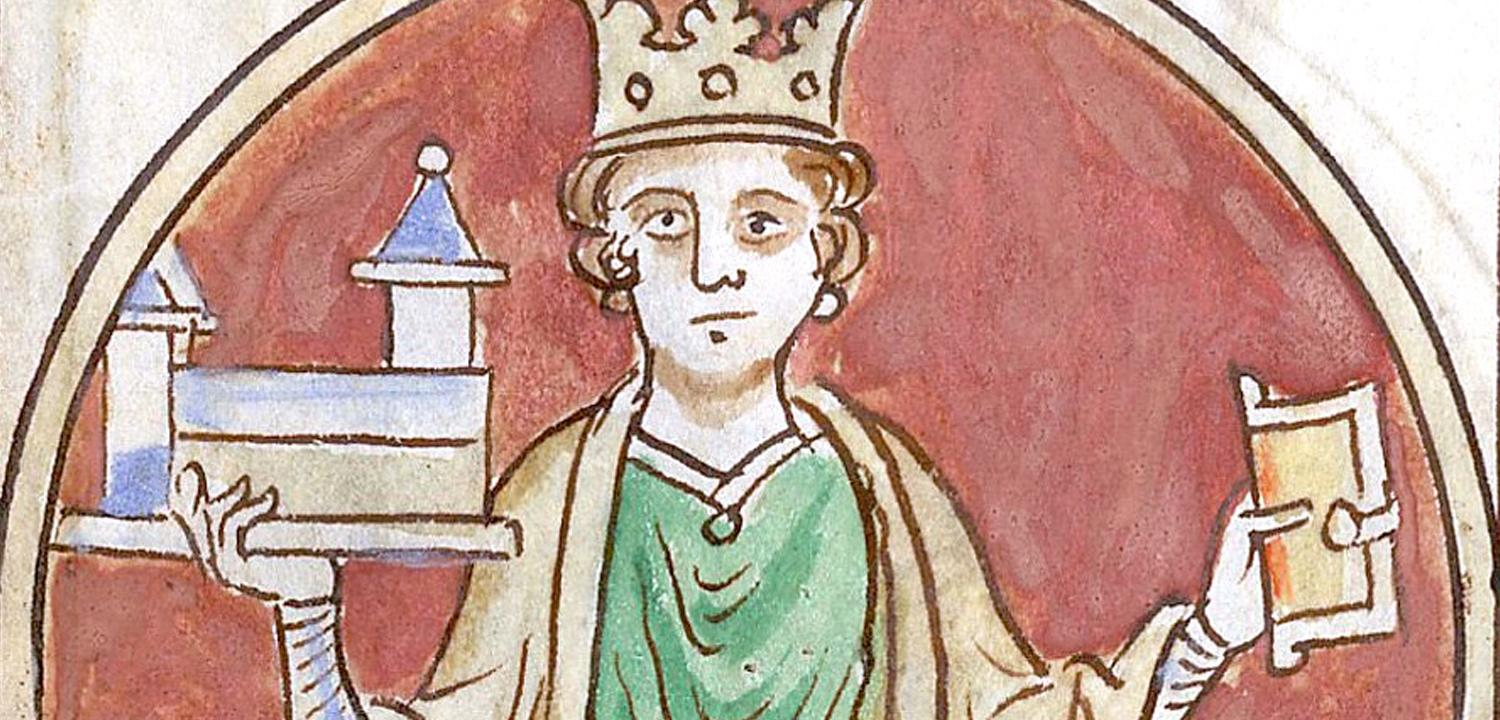 Detail of Henry I in the Cotton MS.