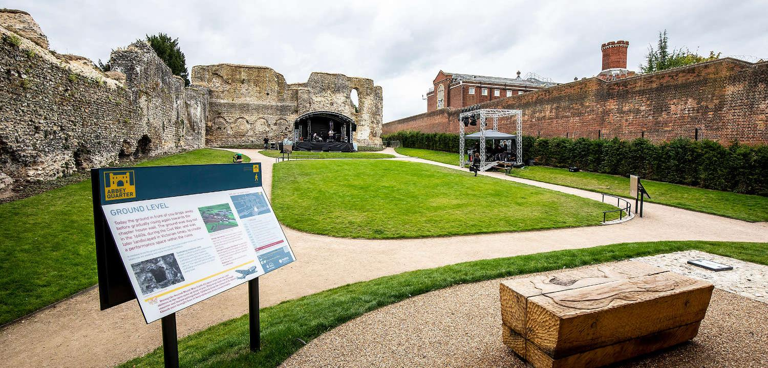 Abbey Ruins dormitory ready for a music event