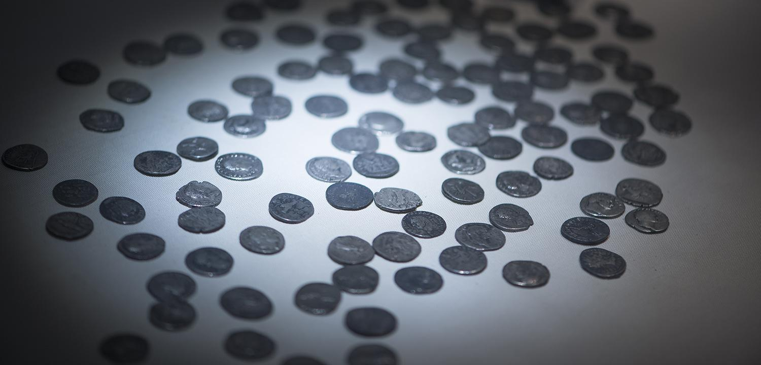 Image of a silver coin hoard
