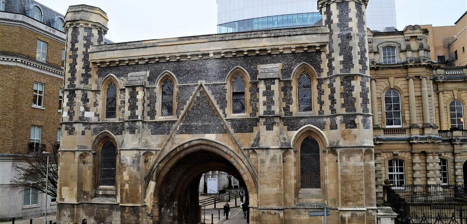 The restored Abbey Gateway, Reading