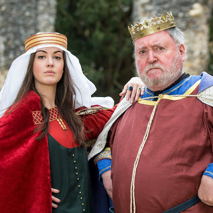 King Henry I and Empress Matilda re-enactors in the Reading Abbey ruins