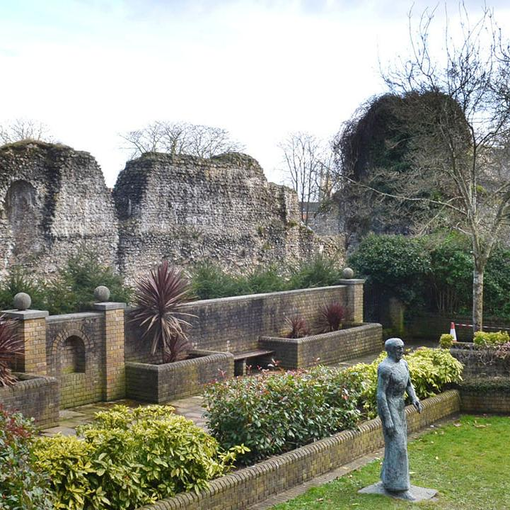 Former site of the Reading Abbey Cloister.