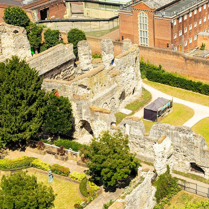 Reading Abbey Ruins and Reading Prison from above