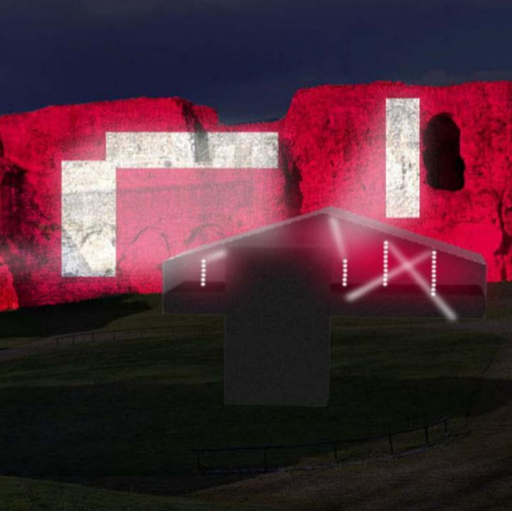 Stuart Melrose concept art for Reading Abbey light installation