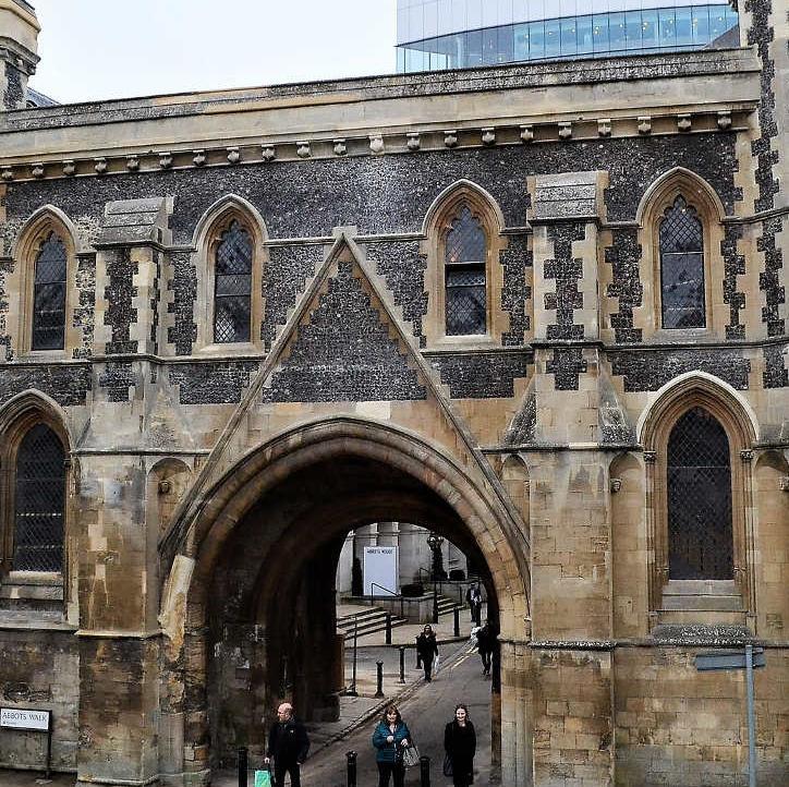 The restored Abbey Gateway, Reading