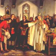 Election of the Mayor of Reading by Abbot Thorne in 1460 by Stephen Reid, 1921